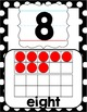 Number Posters 0-20 - Black, White & Red Polka Dot