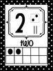 Number Posters 0-20 Black and Red Polka Dots