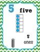 Number Posters 0-20 {Green Chevron} w/ Ten Frame, Base Ten