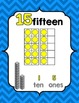 Number Posters 0-20 {Primary Colors} w/ Ten Frame, Base Te