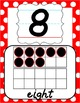 Number Posters 0-20 - Red & White Polka Dot - D'Nealian Ma