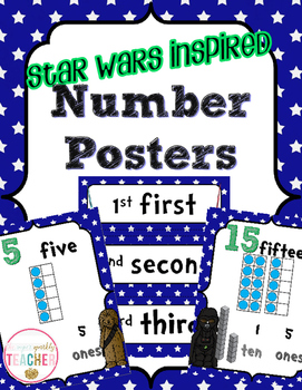 Number Posters 0-20 {Star Wars} CCSS Aligned