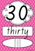 Number Posters 0-20 plus decades 30-100 QLD Font - Rainbow Spotty