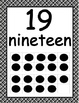 Number Posters 0-20 with Ten Frames in Black Plaid