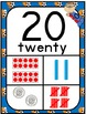 Number Posters 0-30 Plus Bonus Cards ~ Sport Theme with Ze