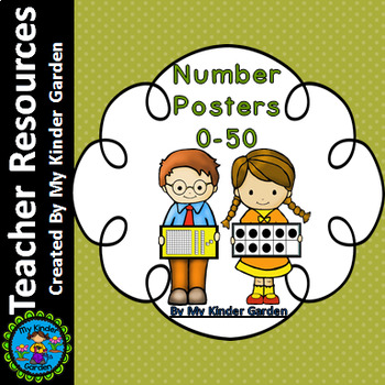 Number Posters 0-50 (name, base ten, ten frames, and tally marks)