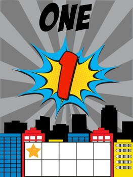 Superhero Number Posters 0 to 10 Classroom Decor Anchor Ch