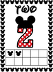 Number Posters 0 to 20 Bundle - Mickey Mouse Dot Theme - D