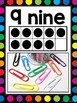 Number Posters 1-20 {White & Rainbow Dots Theme}