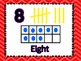 Number Posters 1-20 Bright Chevron