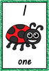 Number Posters 1-20 Bug Theme QLD Beginners Font