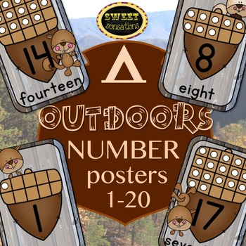 Number Posters 1-20 (Outdoor theme)