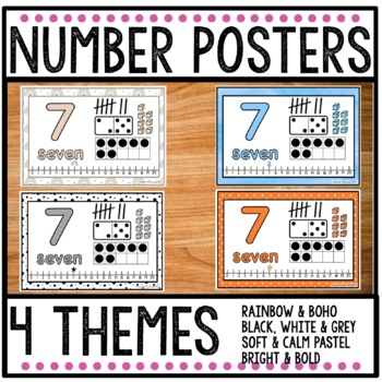 Number Posters 1 - 20 SAMPLE
