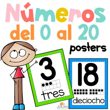 Number Posters 1-20 SPANISH