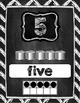 Number Posters 1-20 in Chalkboard Chevron Style