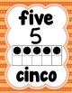 Number Posters 1-20 in English/Spanish (Orange)