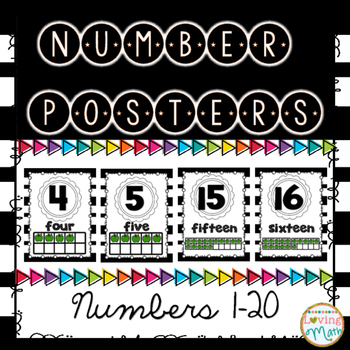 Number Posters 1-20 { with ten frames }