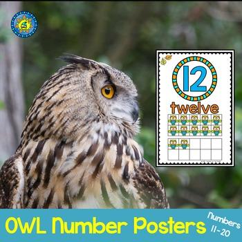 OWL Math Ten Frame Number Posters 11-20 ~ Kindergarten Com