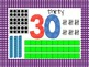 Number Posters 21-30 - polka dot border