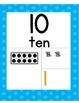 Number Posters - Back to School 1 - 20