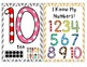 Number Posters (Chevron Frames) and Tens Frames Packet