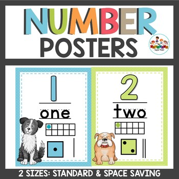 Number Posters Dog Theme
