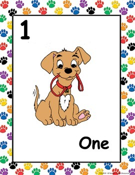 Number Posters Dog Themed
