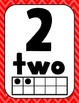 Number Posters: Dots on Turquoise
