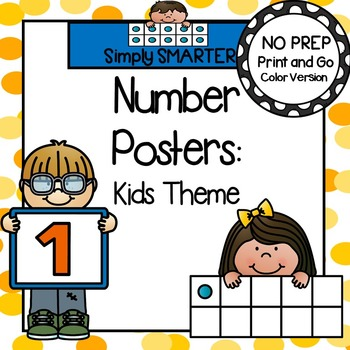 Number Posters:  Kids Theme