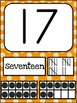 Number Posters MIX AND MATCH (ORANGE Scribble)
