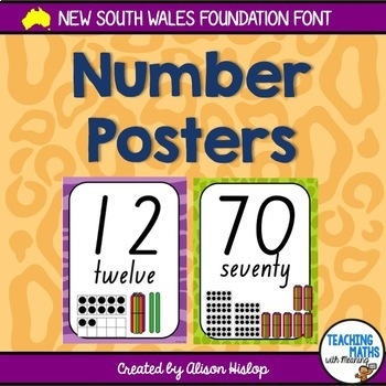 Number Posters - NSW Foundation Font