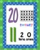Number Posters Printable - Polkadot theme