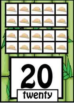 Number Posters - Safari/Jungle Theme