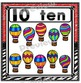 Number Posters Set ~ 1 – 20 {Crayon/Zebra Theme}