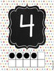 Number Posters - Ten Frames - Teal Red Yellow Grey - Polka
