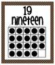 Number Posters - Zero through Twenty -  Chocolate Brown wi