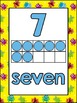 Number Posters and Labels Monsters {UK Teaching Resource}