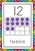 Number Posters with Rainbow Border - Numeral, Number Word