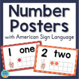 Sign Language Number Posters With Ten Frames