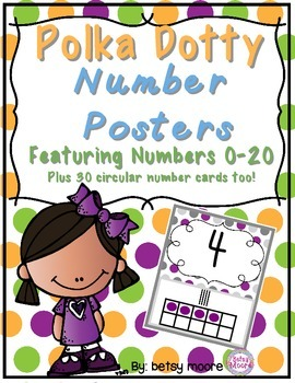 Number Posters with Tallies and Ten Frames Classroom Decor