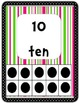 Number Posters with Ten Frames: Pink and Green