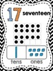 Number Posters with Ten Frames and Place Value {Chevron}