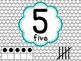 Number Posters with Ten Frames and Tally Marks in Yellow T