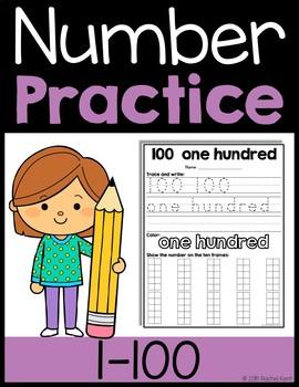 Number Practice 1-100 Bundle