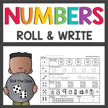 Number Practice 1-30 Roll the Dice