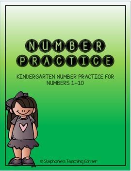 Number Practice - Kindergarten