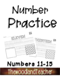 Number Practice Pages 11-15