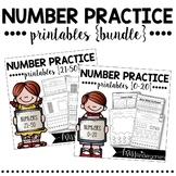 Number Practice Printables {BUNDLE pack}