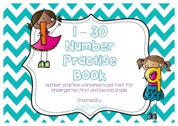 Number Practise Workbook 1 - 30