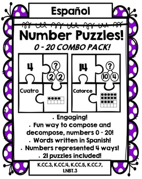 Number Puzzles: Compose and Decompose numbers 0 – 20 (SPAN
